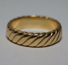 James Avery *Retired* Twisted Band 14k Yellow Gold Size 5.5