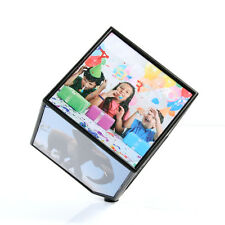 Revolving Multi Picture Frame Automatic Rotating Magically Displays 6-Photo Cube