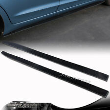 "72"" x 3.5"" Black Side Skirt Extension Flat Bottom Line Lip Universal Style 2"