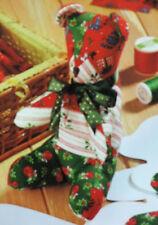 Sewing Pattern PATCHWORK TEDDY BEAR Festive Christmas TOY Ornament EASY MAKE