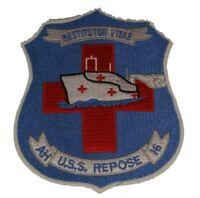 USS REPOSE HOSPITAL SHIP AH-16 RESTITUTOR VITAE PATCH USN NAVY SAILOR