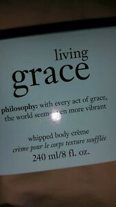 Philosophy Living Grace Shower Gel and Body Cream.