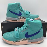 Jordan Legacy 312 AT4040-348 Retro Air Nike Mens Size 6.5 Hyper Jade Bright Blue