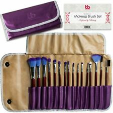 16 PCS Professional Soft Cosmetic Purple Makeup Brush Set by Beauty Bon