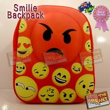 smilie heart rave backpack festival bag angry face red