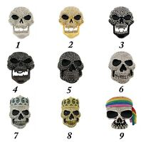 Halloween Costume Bling Iced Hip Skull Belt Buckle Ladies Gothic Tribal Fashion
