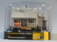 WOODLAND SCENICS N SCALE OLD HOMESTEAD BUILT & READY gauge house home WDS4933