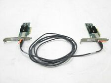 (2) Mellanox MNPA19-XTR 10G Connectx-2 PCIe 10GBe NIC Card HP Proliant w/cable