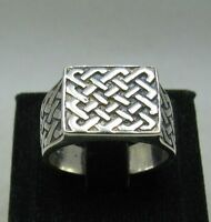 STERLING SILVER MEN'S RING SOLID 925 NEW SIZE N - Z++ EMPRESS R001101