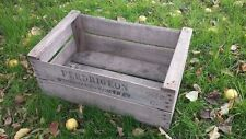 "VINTAGE WOODEN ""PRE WAR"" PEAR FRUIT CRATES RUSTIC OLD BUSHEL BOX SHABBY CHIC"