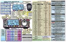 YAESU FT-100/100D AMATEUR HAM RADIO DATACHART EXTRA LG GRAPHIC INFORMATION