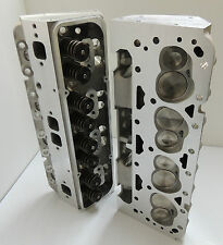 #WPM-272-A - SBC CHEVY 383 ALUMINUM HEADS FULLY ASSEMBLED 64CC 200CC ANGLE PLUG