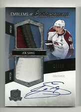 2012-13 Upper Deck The Cup JOE SAKIC Emblems of Endorsement Patch Auto # 11/15