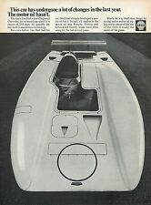 1969 Shell Oil Company Print Ad w/ Jim Hall's Chevrolet Chevy Chaparral Race Car