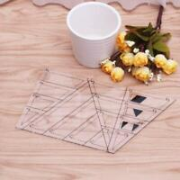 Quilting Sewing Tool Diamond Shaped Acrylic Ruler Quilt Patchwork Template New