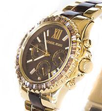 MICHAEL KORS Chronograph Everest Gold Tortoise Brown Women Watch MK5873