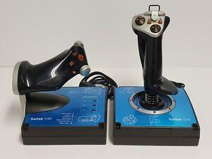 Saitek X45 Digital Joystick & Throttle Flight Simulator Controllers PC USB