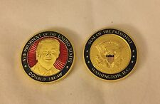 TRUMP CHALLENGE COIN MAGA RED BLUE ENAMEL PRESIDENT EAGLE SEAL GOLD