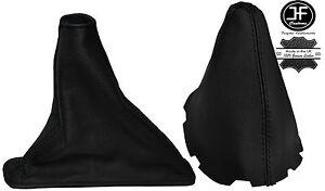 BLACK STITCH LEATHER GEAR & HANDBRAKE BOOT FITS TOYOTA COROLLA E15 E150 07-13