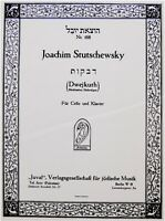 1925 Bezalel BUDKO Jewish RUSSIAN SHEET MUSIC Judaica STUTSCHEWSKY Cello JUWAL