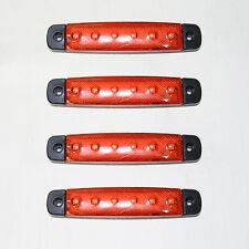 4x 12v LED Lateral Rojo Bombilla Marcador Camión Trailer nuevo caja caravana