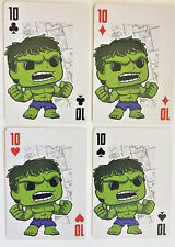 INCREDIBLE HULK Set of 4 FUNKO Pop MARVEL Playing Cards - ACE,KING,QUEEN,JACK