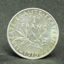 FRANCE  1 FRANC 1919  SILVER COIN   #1098
