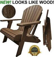 DuraWeather Polywood Folding Adirondack Chair