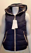 Navy Padded Hooded Vest/Body Warmer - M