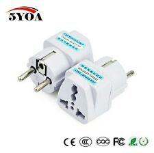✓ 10PCS TRAVEL UNIVERSAL ADAPTER PLUG SOCKET CONVERTER UK US AU TO EU EUROPEAN