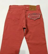 BNWT Levi's 511 Mens Jeans Slim Fit 4 Way Stretch Denim Red W31 L34 , W29 L32