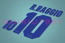 Italy Baggio #10 1994-1996 Awaykit Nameset Printing