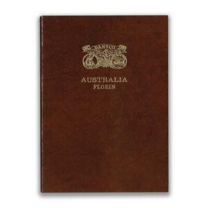 DANSCO AUSTRALIA FLORIN PUSH IN COIN ALBUM 1910-1963