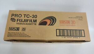 Fuji Pro VHS-C TC-30 Camcorder 10 Tape New Factory Sealed High Grade 10 Pack Lot