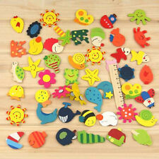 12Pcs Kids Wooden Animal Fridge Magnet Cartoon Toddler Lovely Educational Toy
