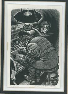 Fritz Eichenberg wood engraving, Tales of Edgar Allan Poe, 1944