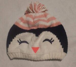 NWT Gymboree Polar Pink Penguin Sweater Hat 2T 3T Toddler Girl