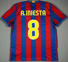 Andreas INIESTA FC BARCELONA 2009/10 Home L Football Shirt Jersey Camiseta Patch