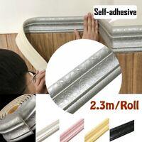 2.3 M wasserdichte Fliesen Wohnzimmer Badezimmer Fußleiste selbstklebend