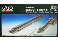 Kato 23-127 N Scale Suburban Platform Set for Double Track Plate