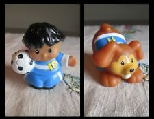 Little People Fisher Price Soccer Hispanic # 10 & dog # 11 uniform