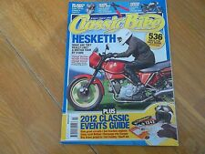 * CLASSIC BIKE MAR  2012 HESKETH WESLAKE TRIUMPH VINCENT EVENTS GUIDE MV AGUSTA