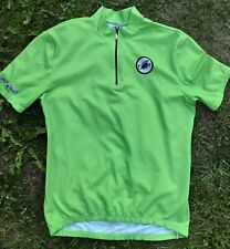 Castelli Men's Cycling Jersey Top Short Sleeve Zip Up Chest - XXL Made in Italy.