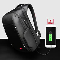 "Laptop Backpack External USB Charge Computer Waterproof Anti-theft Bag 13""15""17"""