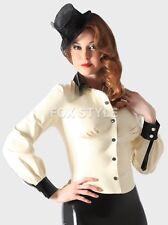 100% Latex Rubber Gummi Shirt Coat Top Jacket Blouse Catsuit Suit Party Classic