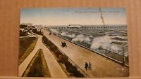 Postcard posted 1920 Lincolnshire, Cleethorpes, Promenade in rough weather