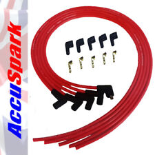 AccuSpark 8mm Performance Silicone HT Leads in Red for 4cyl Cars With 90° Ends