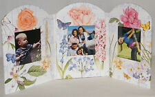 New Creative Papers TriFold Photo Frame 2.5 x 2.75 Floral Butterflies Music Note