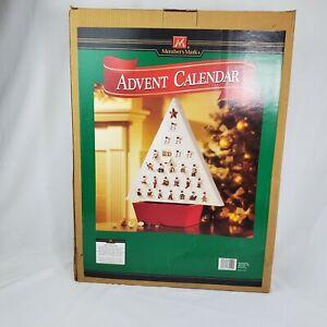 Christmas Advent Calendar Members Mark Vintage with 25 doors Very Rare NEW