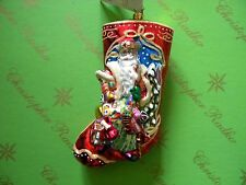 Christopher Radko Treasures Abound Stocking Glass Ornament
